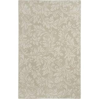 Safavieh Handmade Fern Scrolls Sage New Zealand Wool Rug (7'6 x 9'6)