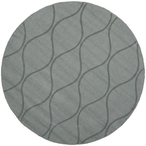 Safavieh Handmade Timeless Grey New Zealand Wool Rug (5' Round)