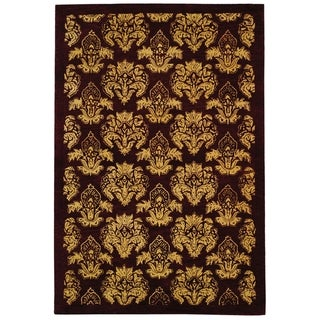 Safavieh Handmade Metro Fleur Maroon Red New Zealand Wool Rug (9' x 12')
