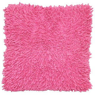 Pink Shagadelic Chenille 18-inch Double Side Pillow