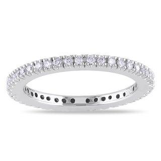Miadora 14k White Gold 1/4ct TDW Diamond Eternity Ring (G-H, SI1-SI2)