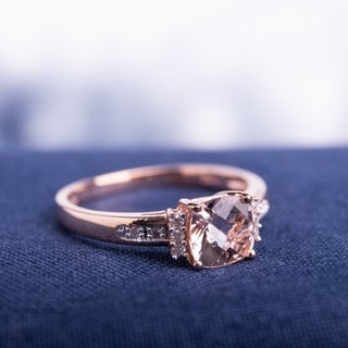 Miadora 10k Rose Gold Morganite and Diamond Accent Ring