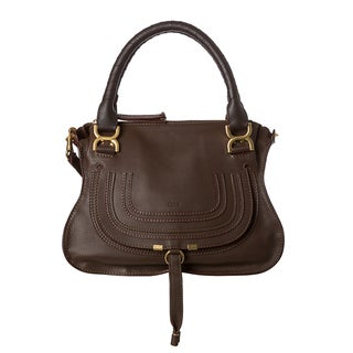 Chloe 'Marcie' Small Brown Leather Satchel