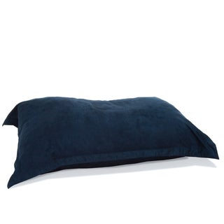 Chandler Blue Faux Suede 5-foot Lounge Pillow