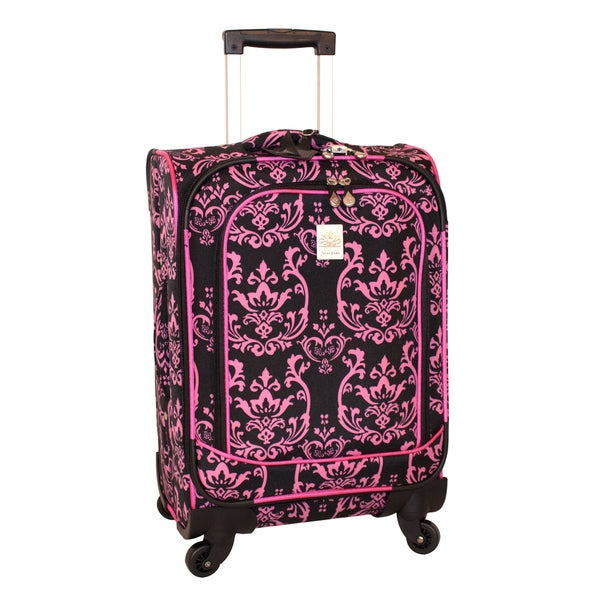 Jenni Chan Damask 21-inch 360 Quattro Carry-on Spinner Upright