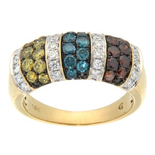 D'sire 10k Gold 1 2/5ct TDW Multi-colored Diamond Ring (H-I, SI2)