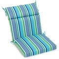 Blazing Needles Striped 3-section Chair Cushion