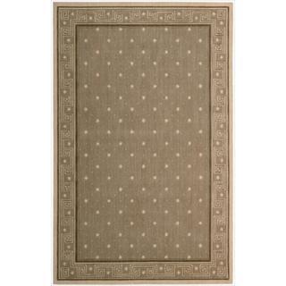 Cosmopolitan Chestnut Star Print Rug (7'6 x 9'6)