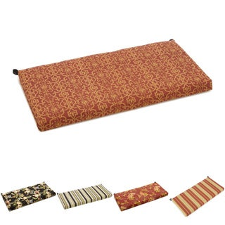 Blazing Needles Patterned Outdoor Spun Poly Bench Cushion (42 x 19)