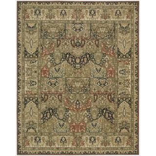 Living Treasures Khaki Wool Rug (2'6 x 4'3)