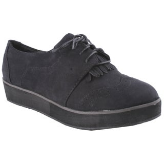 Liliana by Beston Women's 'Berkeley' Black Oxford Shoes