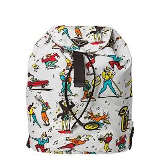 Prada Women's Multicolored Action Printed Backpack