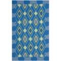 Safavieh Four Seasons Stain Resistant Hand-hooked Indigo Rug (5' x 8')