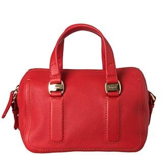 Salvatore Ferragamo Women's 'Arisa' Red Leather Satchel Handbag