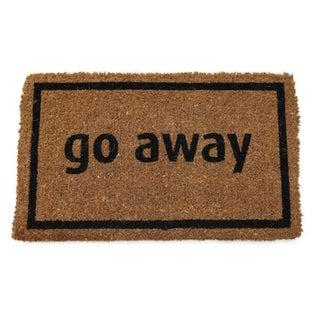 Black Coir 17x28-inch 'Go Away' Door Mat