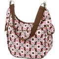 The Bumble Collection Chloe Convertible Diaper Bag in Pink Geo
