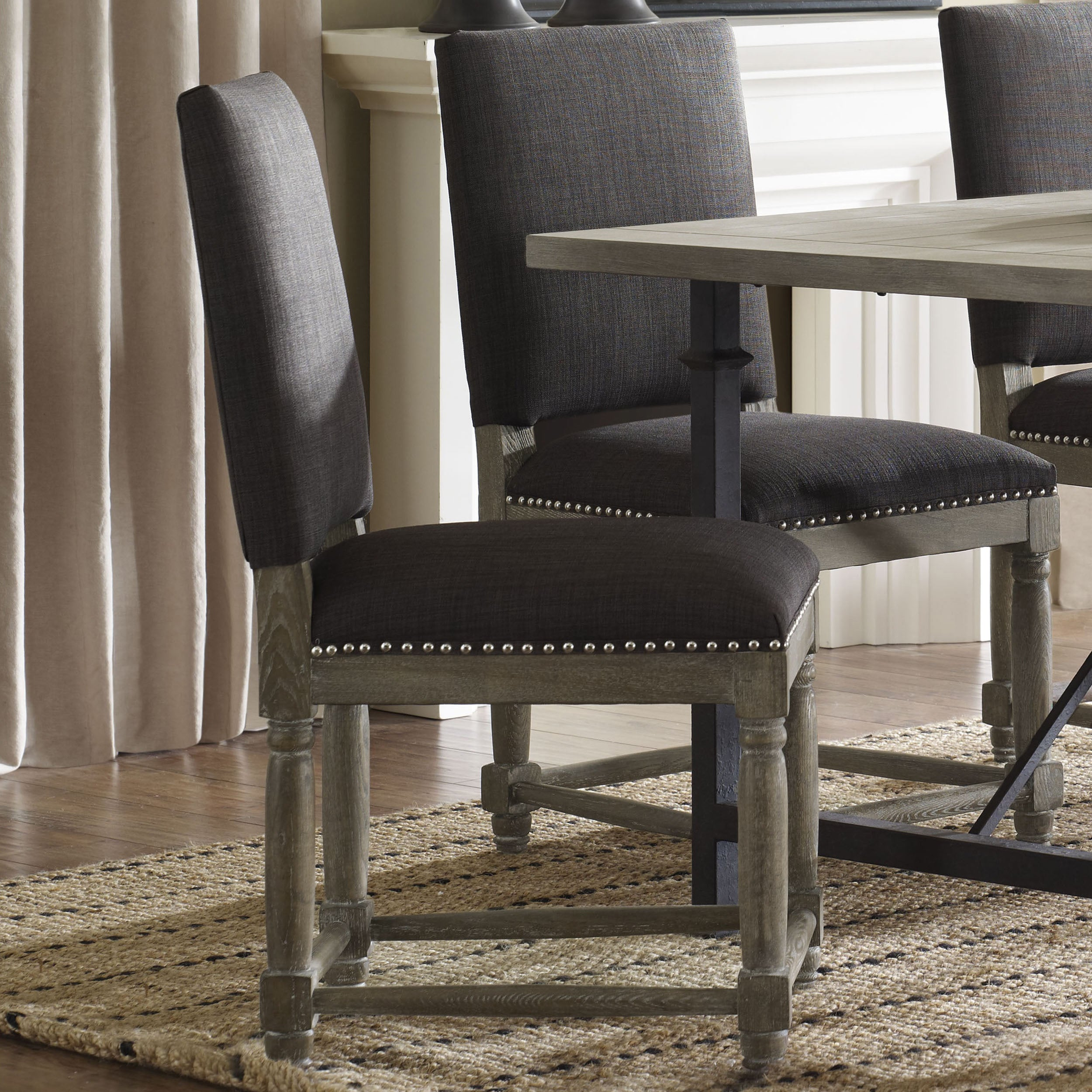 Grey Dining Room Chairs: Classic Design Dinning Chairs Elegant Gray Rustic