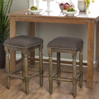Renate Grey Counter Stools (Set of 2)