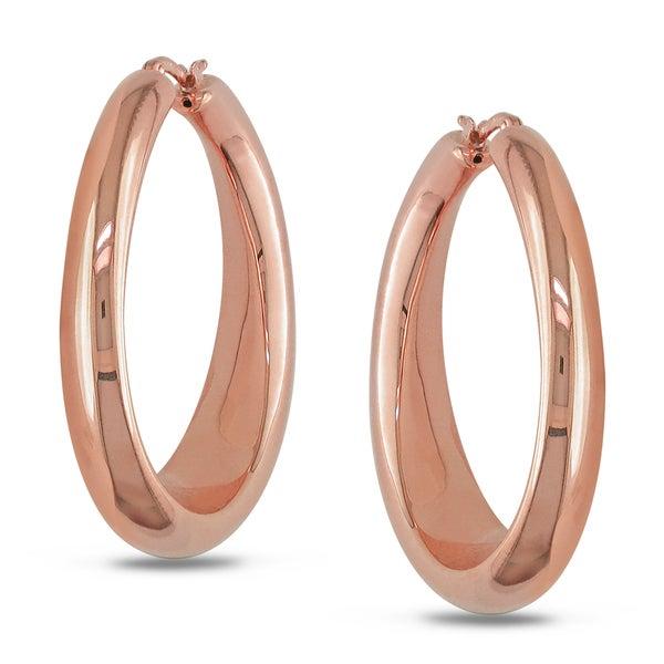 Miadora 18k Rose Gold Hoop Earrings