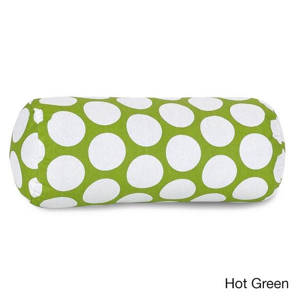 Large Polka Dot Round Bolster Pillow