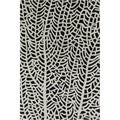 Allie Handmade Abstract White/ Black Wool Rug (5' x 7'6)