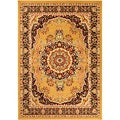 Paterson Collection Oriental Medallion Gold Area Rug (4'9 x 7')