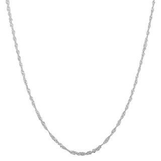 """Fremada Sterling Silver 1.22-mm Singapore Chain (16""""-30"""")"""