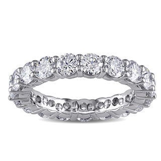 Miaodra Platinum 3ct TDW Diamond Eternity Ring (F, VVS)
