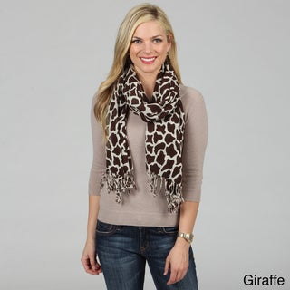 Cashmere Showroom Merino Wool Animal Printed Scarf