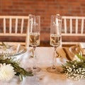 Mr. &amp; Mrs. Contemporary Champagne Flutes