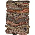 Hand-tufted Halifax Orange Novelty Wool Rug (5' x 8')