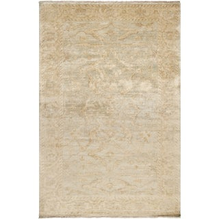 Hand-knotted Stowe Beige Wool Rug (3'6 x 5'6)