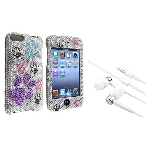 INSTEN Dog Paw iPod Case Cover/ Headset for Apple iPod Touch Generation 2/ 3