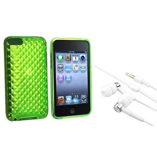 INSTEN Diamond TPU iPod Case Cover/ Headset for Apple iPod Touch Generation 2/ 3