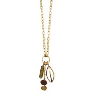 Handcrafted Long Link Resin Charms Necklace (India)
