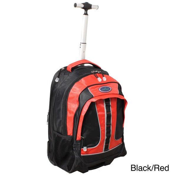 World Traveler Rolling Upright Computer Laptop Backpack