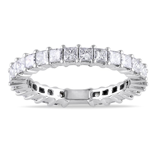 14k White Gold 1 4/5ct TDW Diamond Eternity Ring (Size 6) (G-H, SI1-SI2)