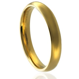 Journee Collection Goldtone Stainless Steel Wedding Band (4 mm)
