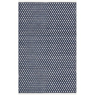 Safavieh Hand-loomed Moroccan Navy Cotton Rug (5'x 8')