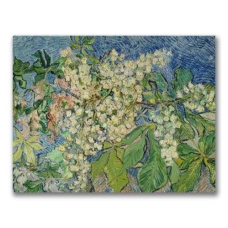 Vincent Van Gogh 'Blossoming Chesnut Branches' Canvas Art