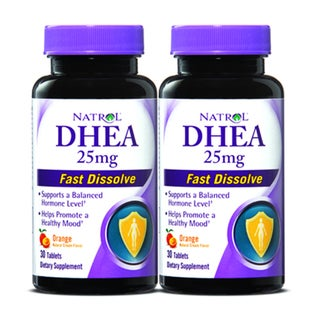 Natrol DHEA 25 mg Fast Dissolve Tablets (60 Count) (Pack of 2)