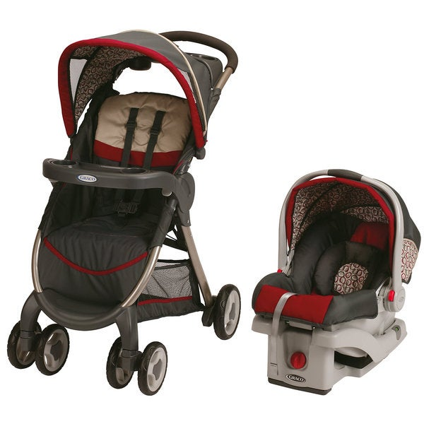 Graco FastAction Fold Travel System with SnugRide 30 Click Connect in Finley