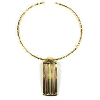 Handcrafted Copper and Brass Architecture Necklace (South Africa)