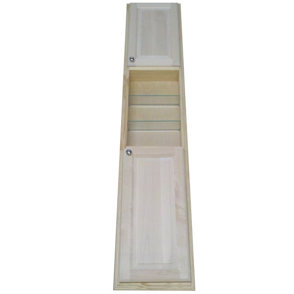 Baldwin 78 Inch Natural Pine Recessed Pantry Storage