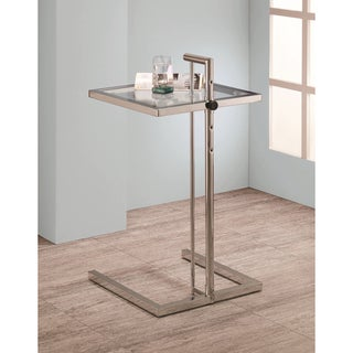 Chrome Finish Adjustable Snack Accent Side Table