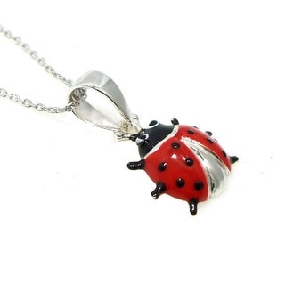 Sterling Silver Lady Bug Necklace (Thailand)