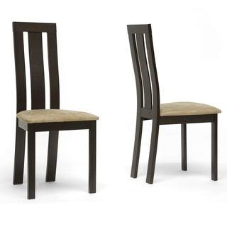 Verona Dark Brown Modern Dining Chairs (Set of 2)