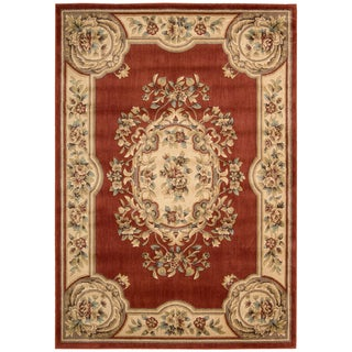Aubusson Collection Rust Rug (3'3 x 5'3)