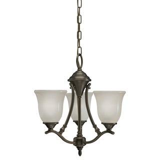 Azted Lighting Casual Bronze 3-light Chandelier