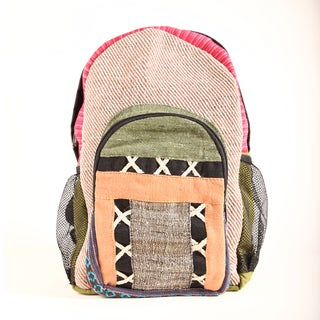 Electric Colors Cotton/Hemp Backpack (Nepal)